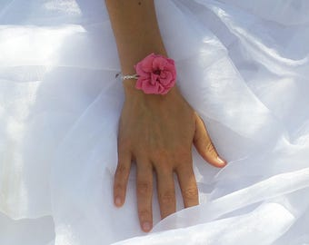Preserved flowers bracelet Marianne for your wedding - flower bracelet