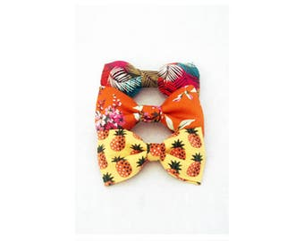Three adult bowties in bright colours, yellow, orange, red, for wedding, ceremony, groom and groomsmen, guests - J&T Bowties With Attitude