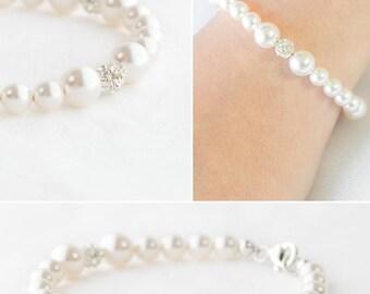 Bridesmaid Bracelet Set of 6,Bridesmaid Bracelet Set of 4,Set of 7,Set of 8,Set of 9 Bridesmaid Bracelet Pearl Set,Bridesmaid Bracelet Gift