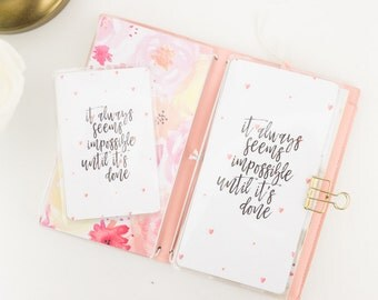 Quotes Hearts Dashboard | Traveler's Notebook Midori | Passport, Pocket, Regular