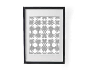 Gray Pattern, Printable, Wall Art, Room Decor
