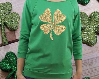 st patricks shirt, St Patricks Day shirt, women st patricks, green shirt, st paddys shirt, women st paddys, shamrock shirt, glitter clover