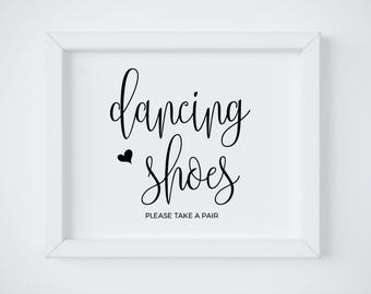 Dancing Shoes Sign, Wedding Dancing Shoes Sign, Dancing Shoes Sign Printable, Wedding Shoes For Guest, Printable Wedding Sign, DOWNLOAD