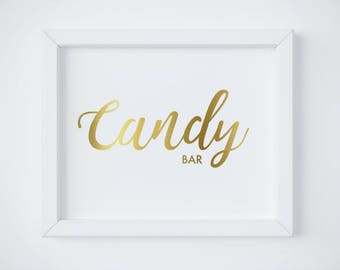 Candy Bar Sign, Gold Candy Buffet Sign, Gold Wedding Signage, Printable Wedding Candy Bar sign, Candy Bar Decor, Sweets Sign, download PDF