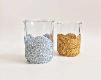 Tealight Holder - Gold Glitter Candle Holder - Silver Candle Holder - Wedding Table Decor - Event Decor - Bridal Shower Decor - Home Decor