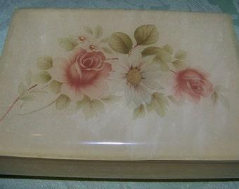 Vintage Himark Giftware Marbled Alabaster Trinket Box
