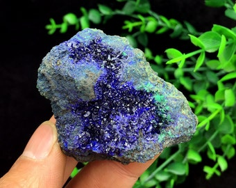 Free Shipping!!Bright Blue Azurite & Green Malachite Mineral Specimen, Healing Crystals and Minerals , Ore collectible 101