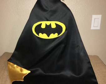 Batman Cape/ Custom Superhero Capes Available