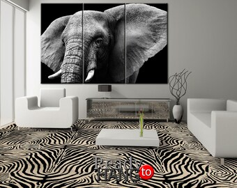 Elephant Canvas Art, Elephant Canvas, Print Elephant, Wall Decor, Elephant Wall Art, Elephant Home Decor, Elephant Canvas, Elephant Art