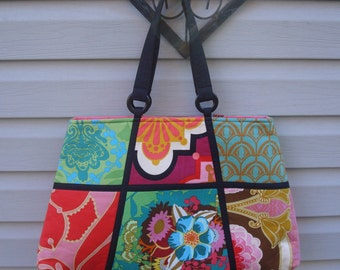 Travel Tote/Anna Marie Horner/Garden Party Fabrics/Daytrip Tote/Overnight Bag/Padded Tote