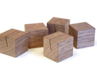 Walnut Wood Place Card Holders Set | Place card stands | Escort card holders |  Name card holders | Escort card stands | Reception stands
