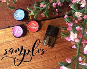 Essential Oil Samples ** Pure Theapeutic Grade -- 1ml samples