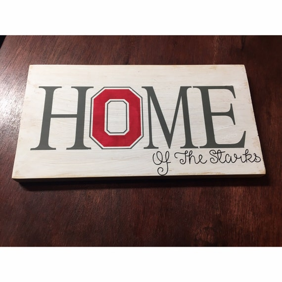 ohio state home sign personalized home sign football sign