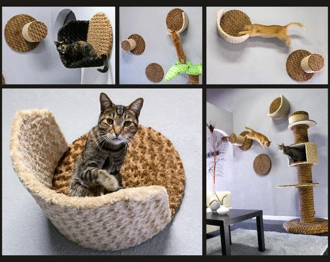 Wall Condo Cradle - wall mounted cat furniture