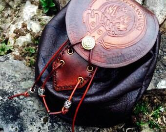 Clan Mackenzie leather sporran bag