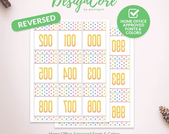 Facebook Live Sale Reversed Mirrored Number Tag, 000 - 999, Home Office Approved, Polka Dot, Printable Instant Download, Consultant DCLST002
