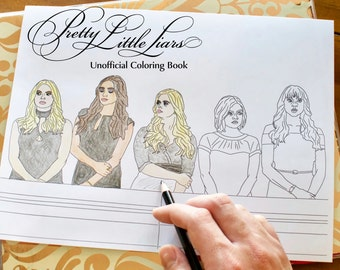 Pretty Little Liars Coloring Book Unofficial, Printable Download for Teens and Adults, TV Show