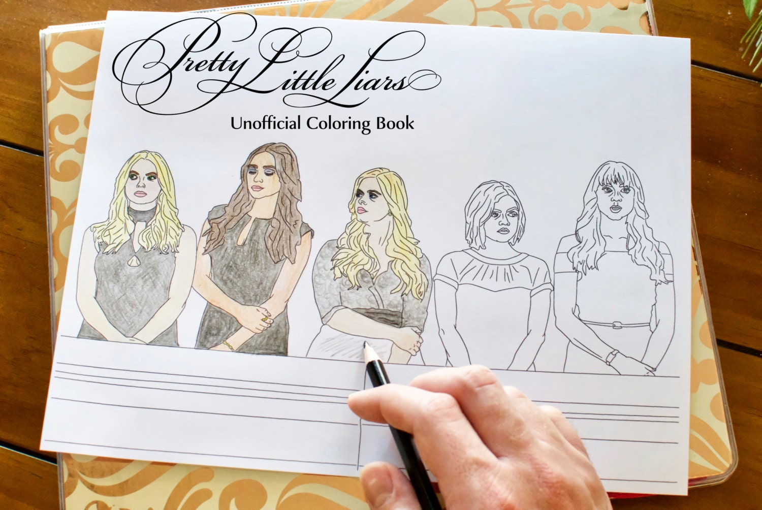 Pretty little liars coloring book unofficial printable for Pretty little liars coloring pages