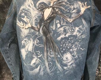 Nightmare Before Christmas Altered Denim Jacket