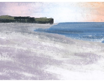 Budleigh Salterton Limited Edition Digital Print