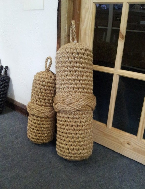 Nautical rope boat fender extra large decorators piece as for Large nautical rope