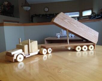 Multi axle truck and grain or container trailer