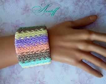Cuff Bracelet, Charm Bracelet, Polymer Clay Cuff,  Bracelets,  bracelet clay, jewelry on hand, Bohemian