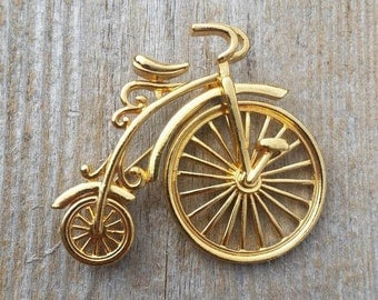 Penny Farthing Bicycle Brooch