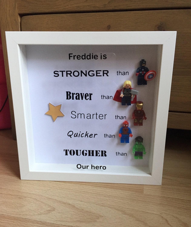 Superhero Frame Avengers Frame Father S Day Gift