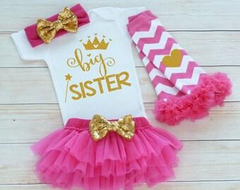 Big Sister Baby Outfit, Baby Sister Shirt, Baby Girl Bodysuit, Baby Girl Gift, Big Sister Shirt, Baby Tutu Outfit, Big Sister, Sister Gift