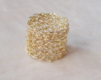 Gold filled ring gold-plated ring knitted gold ring
