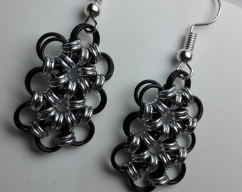 Earrings Black/Silver