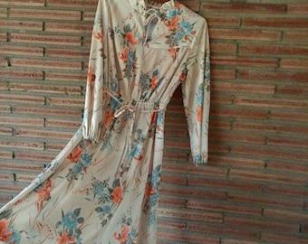 Vintage 70s Flower Power Dress Size S