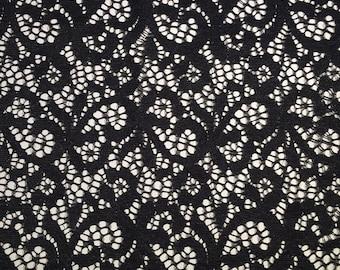 "1 Meter (39"") - 7""/18cm Black Gothic Stretch Lace DIY Lingerie, Intimate Apparel, Bras, Underwear, Burlesque"