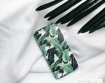 Banana leaf Phone Case, Banana leaves, Tropical,  Palm leaf, iPhone 6 , iPhone 6 plus, iPhone 7, iPhone 7 Plus case, summer ,green