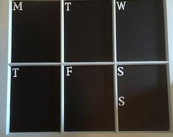 Chalkboard window weekly planner