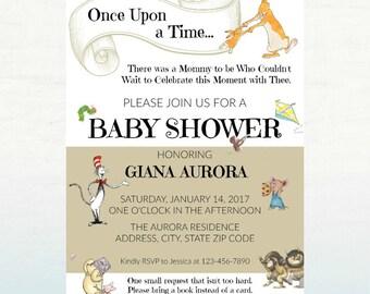 Storybook Baby Shower Invitation, PRINTABLE Baby Shower Invite, 5x7 DIGITAL FILE