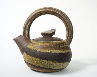 Small Marbled Agateware Teapot