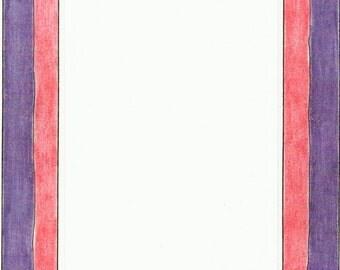 Pink Purple Stripes Cardstock Frame My Mind's Eye Frame Up's Scrapbook  Embellishments Cardmaking Crafts