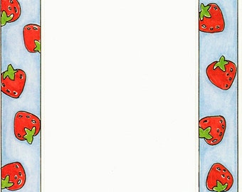 Strawberries Cardstock Frame My Mind's Eye Frame Up's Scrapbook  Embellishments Cardmaking Crafts