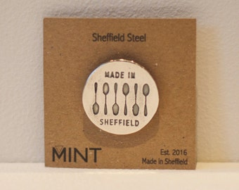 Sheffield Steel Pin Brooch - Sheffield Gifts - Spoons - Made in Sheffield