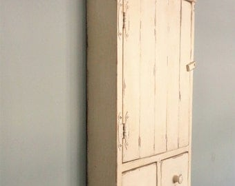 Distressed farmhouse cupboard