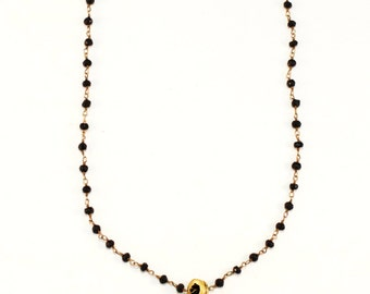 Golden Horn Necklace