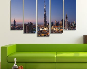 Dubai, Skyline Print, Skyline Canvas, City Prints, City Skyline, City Photography, City Wall Art, Wall Art Canvas, Wall Art Prints