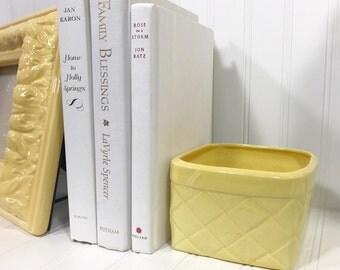 Yellow Square Bowl
