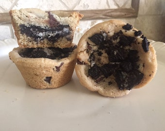 Oreo Food Babies - Oreo Stuffed Cookie Cups - Oreo Pregnant Cookies - Custom Cookies - Stuffed Cookies - Oreo Cookies - Cookies & Cream