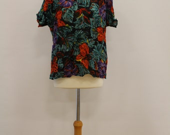 Floral Top (Black/Orange/Red/Purple/Green/Yellow)