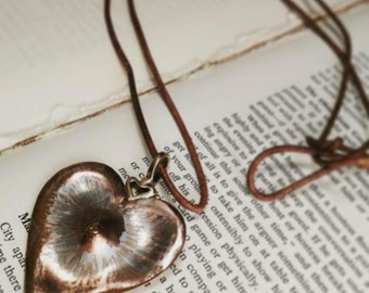 Hand Wrought Copper Heart