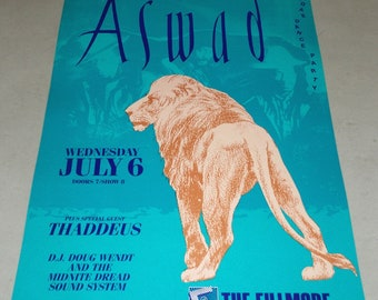 Bill Graham Presents Aswad at The Fillmore Concert Poster