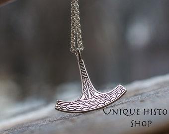 Ukko Thor's Hammer Pendant Mjolnir Pendant Handmade Sterling Silver Viking Jewelry